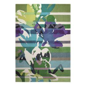 tapis esprit vert floria moderne