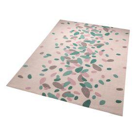 tapis moderne petals bleu esprit
