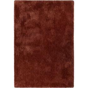 tapis esprit shaggy relaxx rouge brique