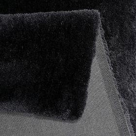 tapis relaxx shaggy gris charbon esprit