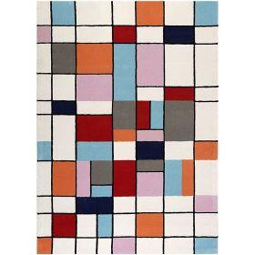 tapis moderne buttons multicolore esprit