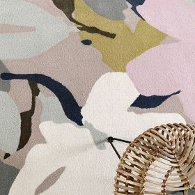 tapis moderne esprit bloom taupe