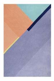 tapis xaz cool noon / summer bleu et orange esprit