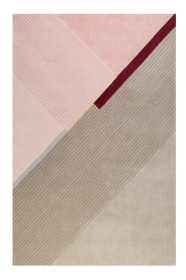 tapis xaz cool noon / summer beige et rose esprit - wecon