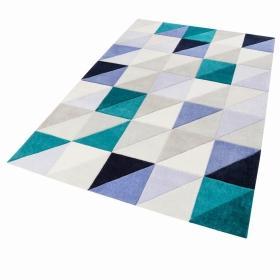 tapis autumn fastlane gris et bleu - esprit home