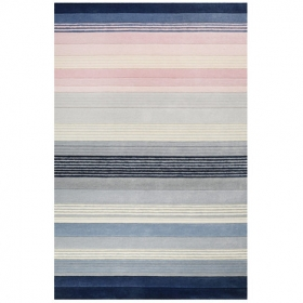 tapis evening shade donell bleu et rose - esprit home