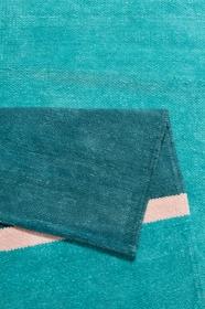 tapis calippo kelim cool noon / summer vert esprit - wecon