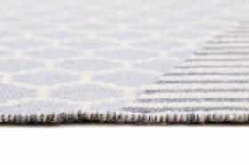 tapissummer east atlanta kelim bleu et beige - esprit