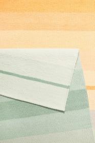 tapis raise kelim morning blush / spring vert esprit - wecon
