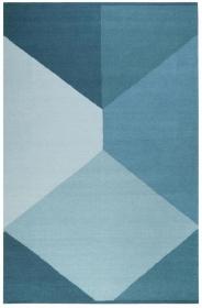 tapis autumn southlandl kelim bleu - esprit