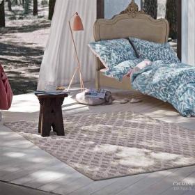 tapis laine et pashmina cyclone ivoire esprit home