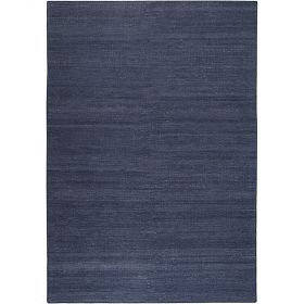 tapis kelim moderne esprit rainbow kelim bleu marine