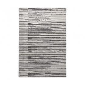 tapis moderne rayé gris esprit home corso