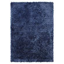 tapis shaggy cool glamour bleu esprit home