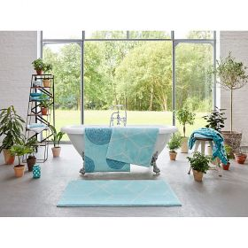 tapis de bain yoga turquoise esprit