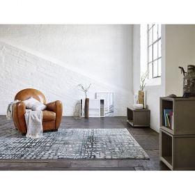 tapis velvet grid gris - esprit