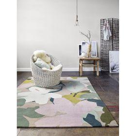 tapis bloom moderne taupe esprit