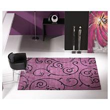 tapis moderne fedora carving en laine violet