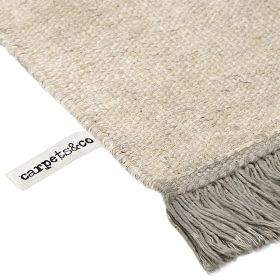 tapis moderne taupe et blanc smart triangle carpets & co.