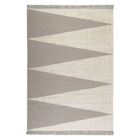 tapis carpets & co. moderne smart triangle taupe et blanc