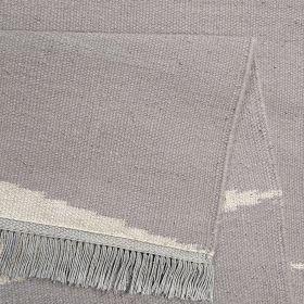 tapis carpets & co. moderne smart triangle gris et blanc