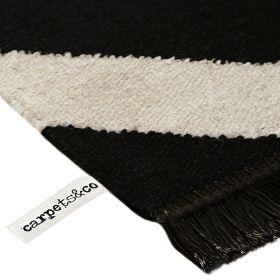 tapis carpets & co. moderne zig zag noir et blanc