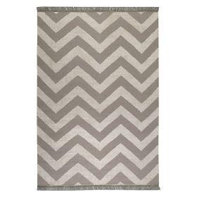 tapis taupe et blanc moderne zig zag carpets & co.