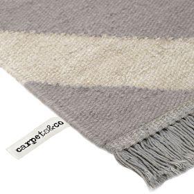 tapis carpets & co. moderne zig zag gris et blanc