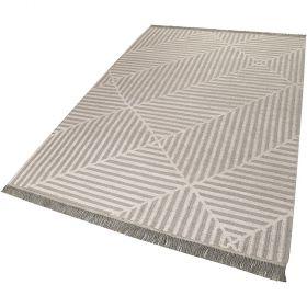 tapis taupe et blanc moderne irregular fields carpets & co.