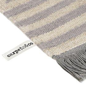tapis carpets & co. moderne irregular fields gris et blanc