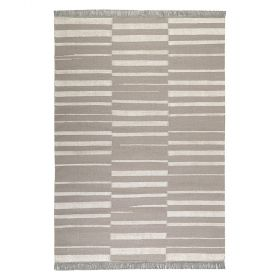 tapis carpets & co. moderne skid marks taupe et blanc