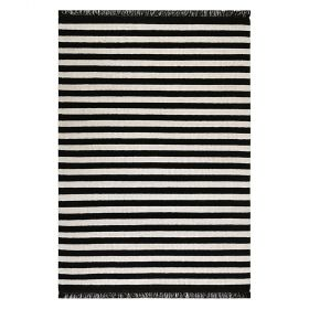 tapis carpets & co. moderne noble stripes noir et blanc