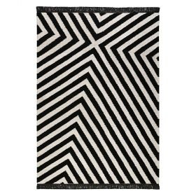 tapis edgy corners noir et blanc - carpets & co
