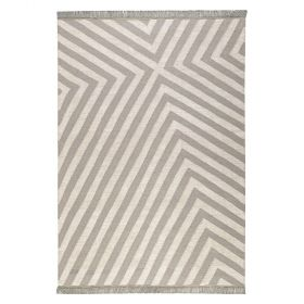 tapis edgy corners taupe et blanc - carpets & co