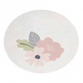 tapis enfant rond avec fleurs 150x150 lilipinso