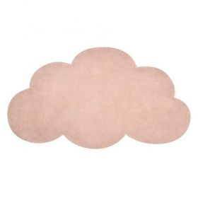 tapis enfant nuage abricot 64x100 lilipinso