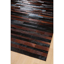 tapis jacob patchwork marron et noir home spirit