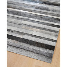 tapis home spirit jacob en patchwork de cuir gris