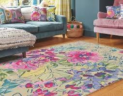 tapis ines jardin bluebellgray - avalnico