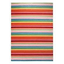 tapis rayé multicolore esprit home joy
