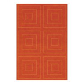 tapis moderne jules wabbes orange angelo