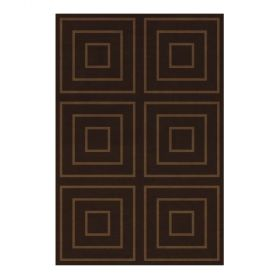tapis moderne jules wabbes motif maille marron angelo