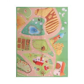 tapis enfant multicolore farm road play mat flair rugs