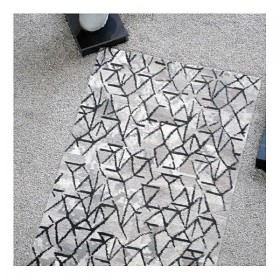tapis tufté main lanna gris the rug republic