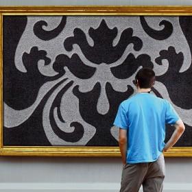 tapis antidérapant style noir et gris arte espina