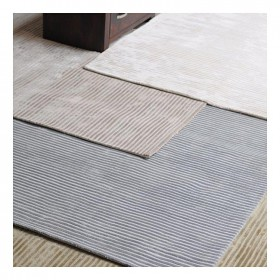 tapis en viscose tissé main logan gris the rug republic