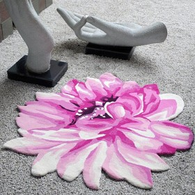 tapis tufté main lotus rose the rug republic