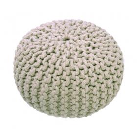 pouf enfant en coton beige lili nattiot