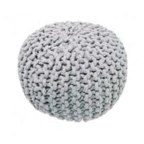 pouf enfant en coton gris lili nattiot