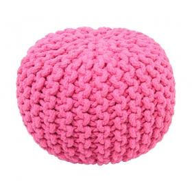 pouf enfant en coton rose lili nattiot